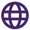 Purple outline of the globe